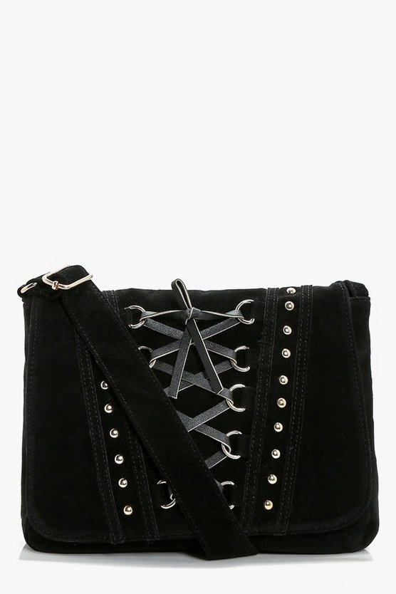 Lucy Corset And Stud Cross Body Bag
