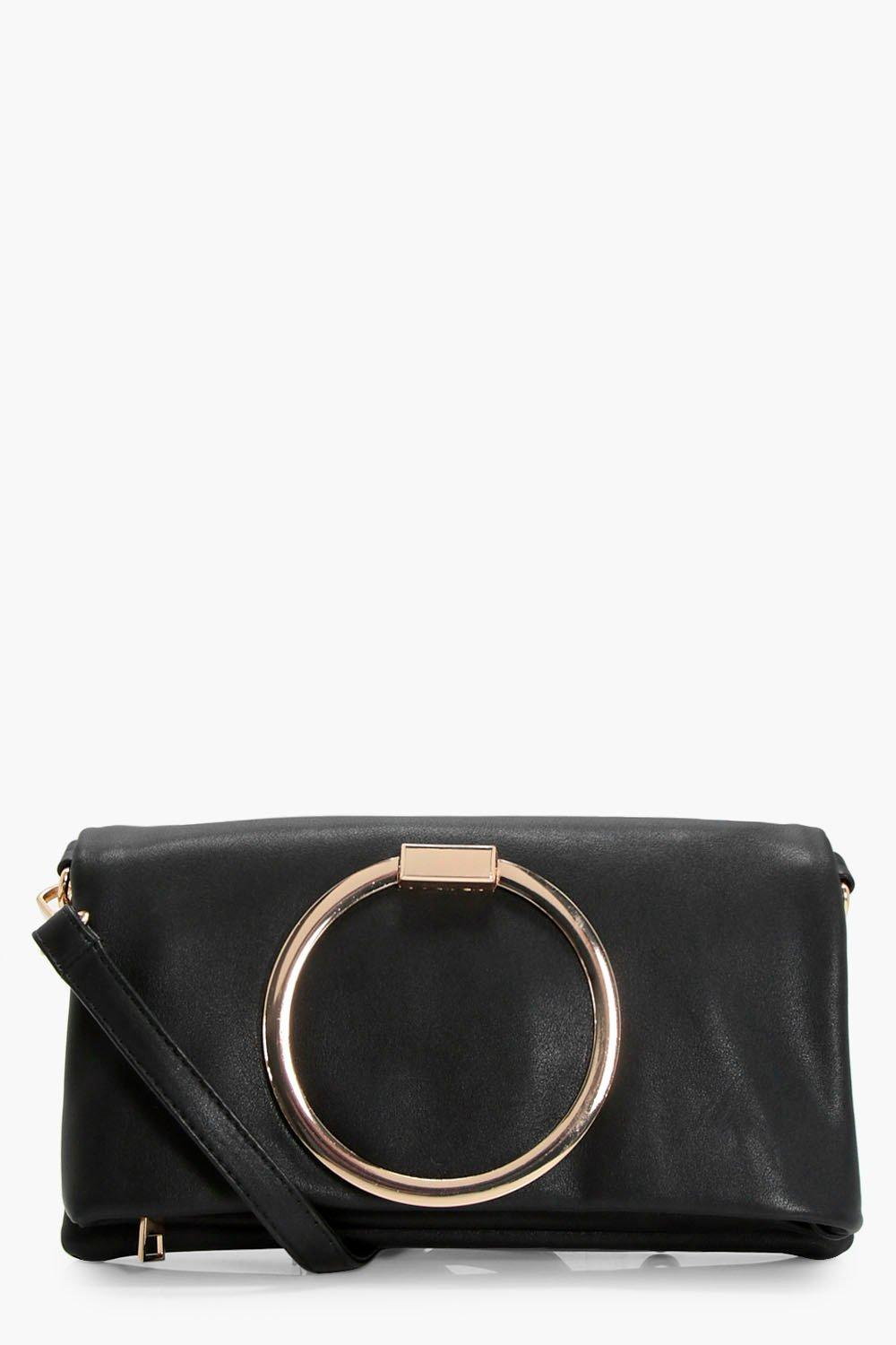 Large Ring Cross Body Bag - black - Karen Large Ri