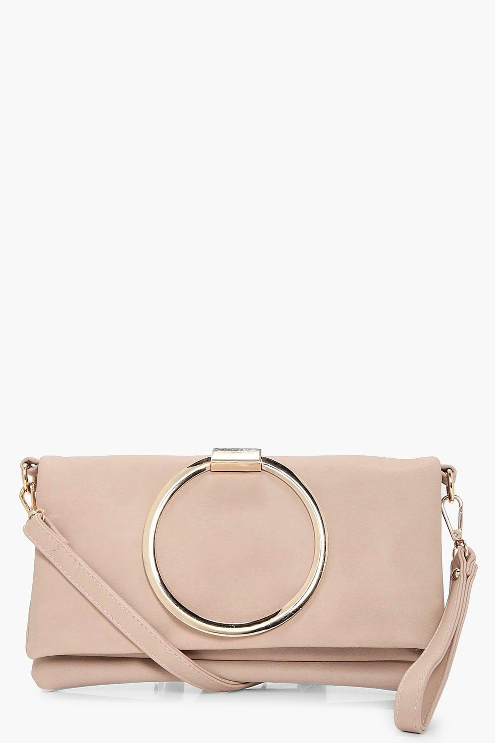 Large Ring Cross Body Bag - blush - Karen Large Ri
