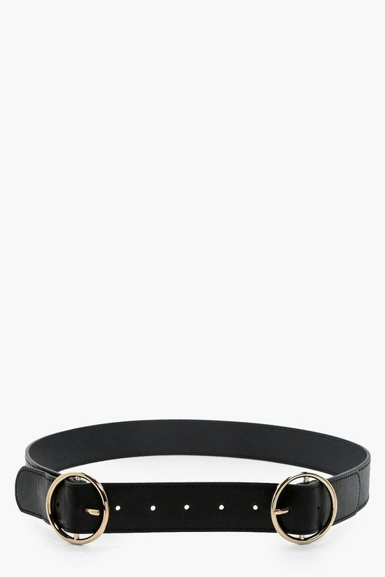 Rosie Double Ring Buckle Boyfriend Belt