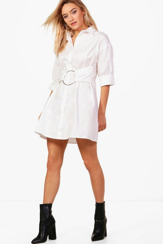 Lianne Eyelet O Ring Shirt Dress