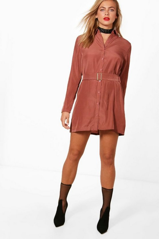 Jess Utility Belted Shirt Dress