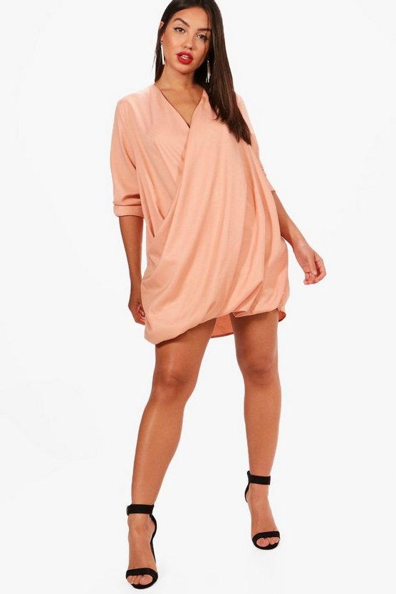 Faye Wrap Front Shift Dress