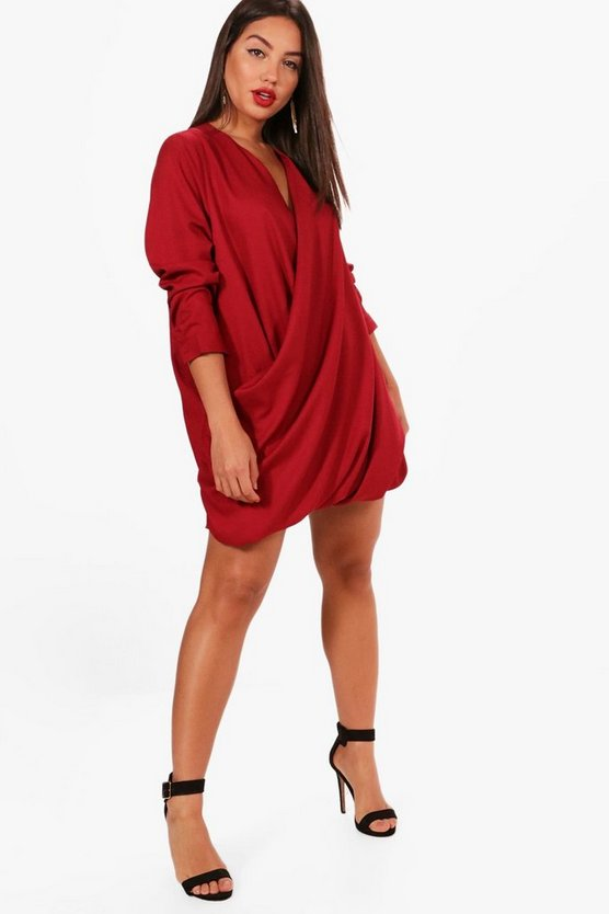 Wrap Front Shift Dress