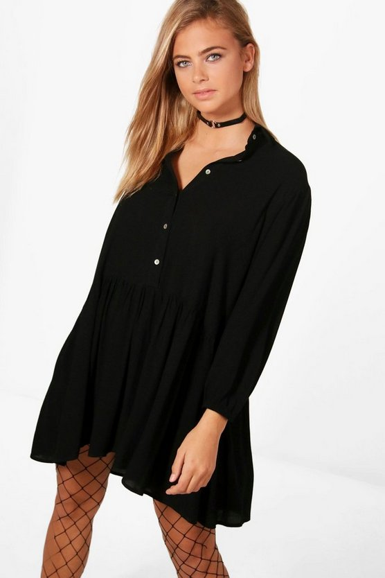 Sophia Smock Shirt Dress