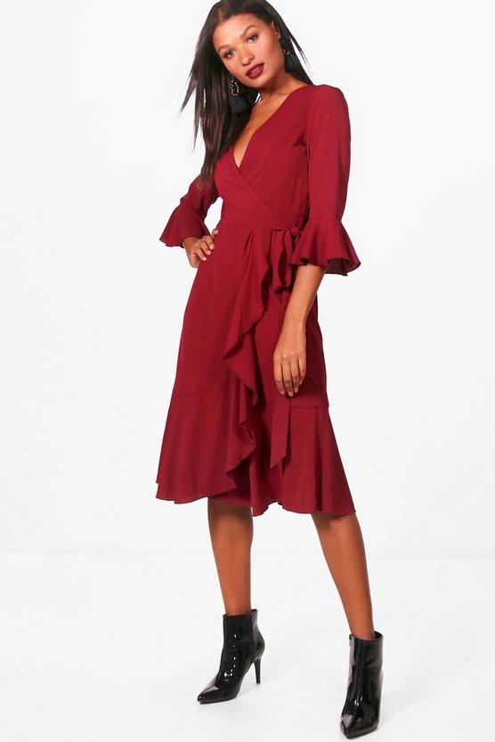 Cassandra Wrap Midi Dress