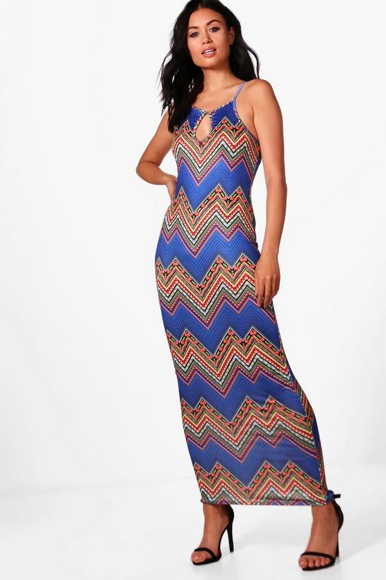 Katerina Aztec Print Maxi Dress