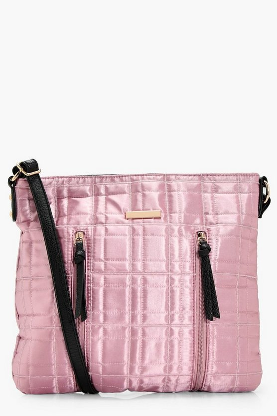 Kerry Quilt & Zips Nylon Cross Body Bag