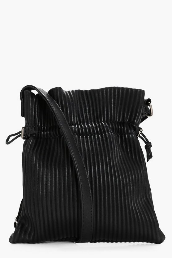 Elsa Pleated Drawstring Toggle Cross Body