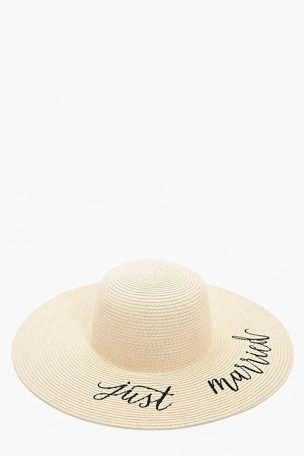 Just Married Straw Hat - natural - Emma Just Marri