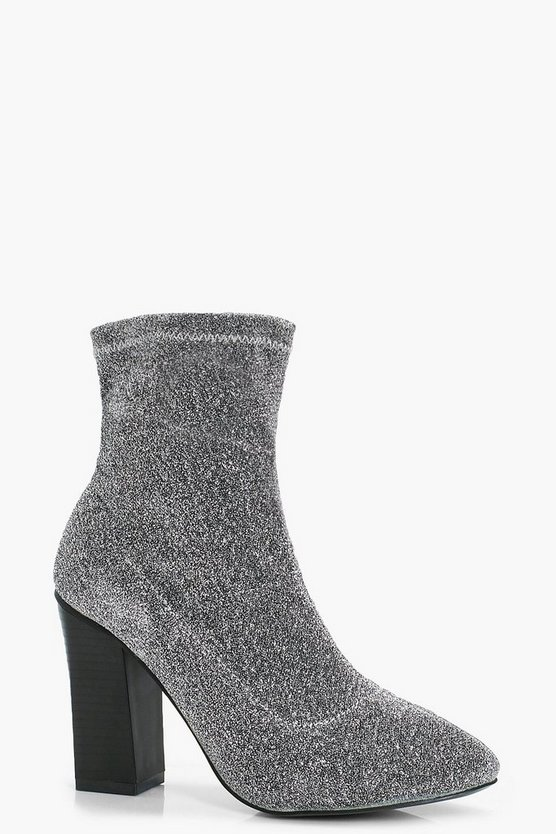 Lozzy Metallic Strech Sock Boot