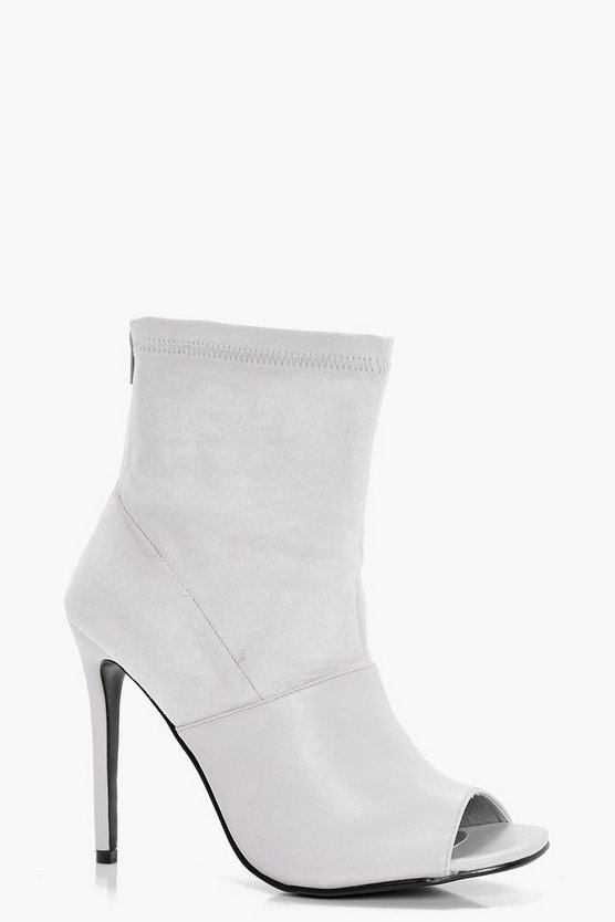 Chrissie Peeptoe Mix Material Shoe Boots