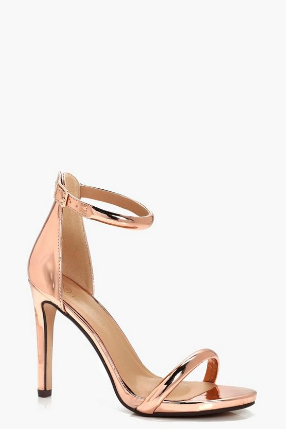 Leah Wide Fit Metallic 2 Part Heels
