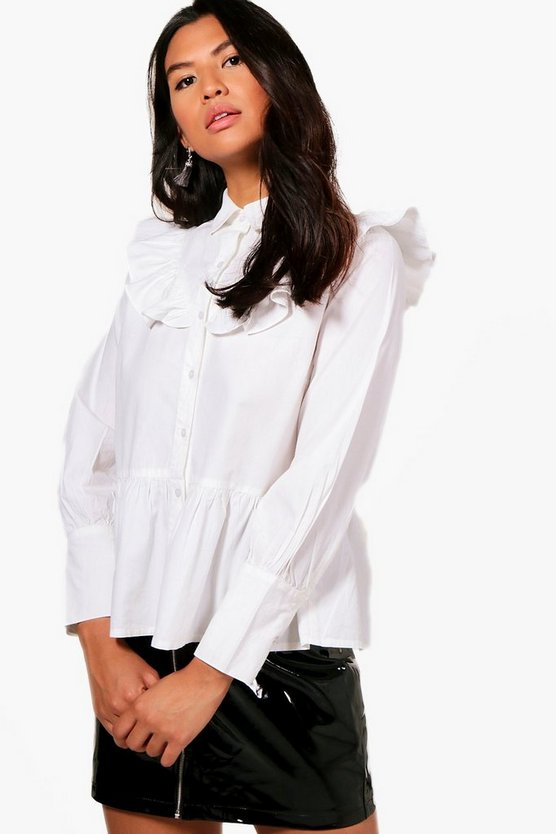 Polly Ruffle Shoulder Shirt