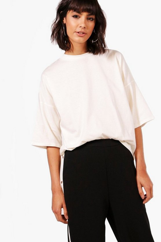 Abbie Basic Oversized 3/4 Sleeve T-Shirt