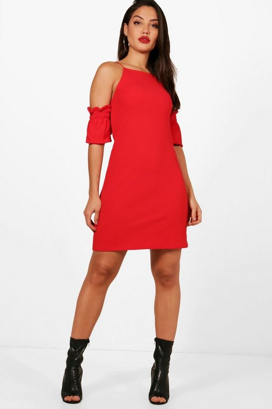 Annabel Strappy Ruched Shift Dress
