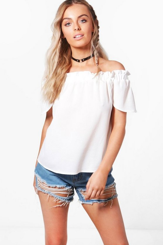Eliza Woven Off The Shoulder Top