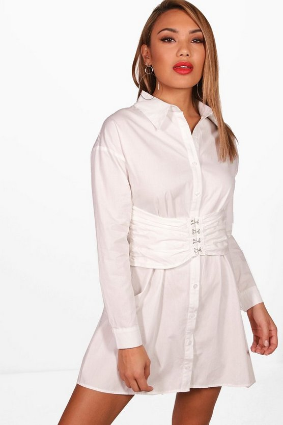 Amelia Corset Shirt Dress
