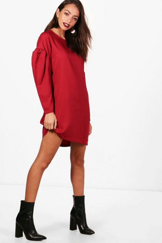 Keeley Volumised Sleeve Shift Dress