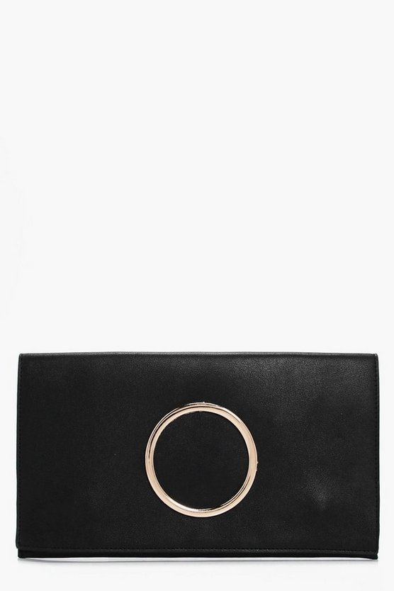 Maria Circle Detail Clutch Bag