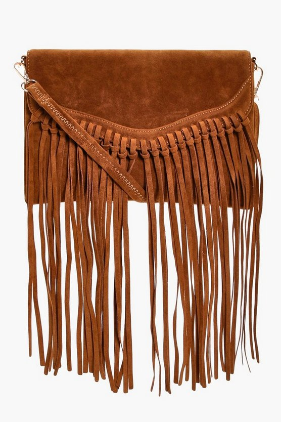 Emily Fringed Suedette Cross Body Bag