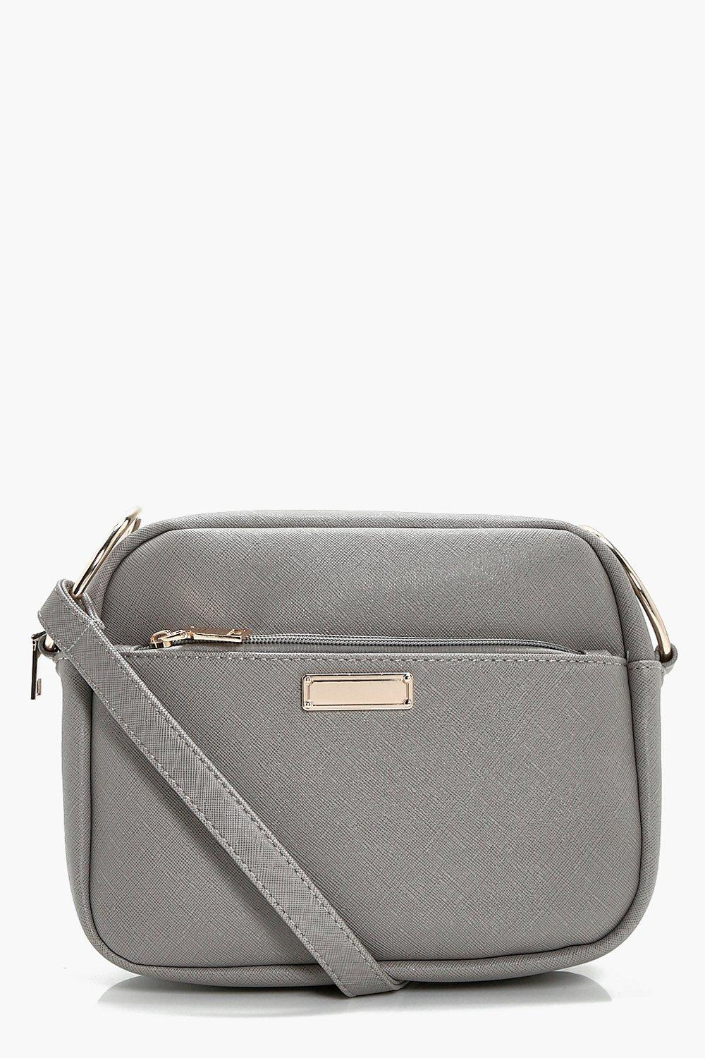 Crosshatch Camera Bag - grey - Ava Crosshatch Came