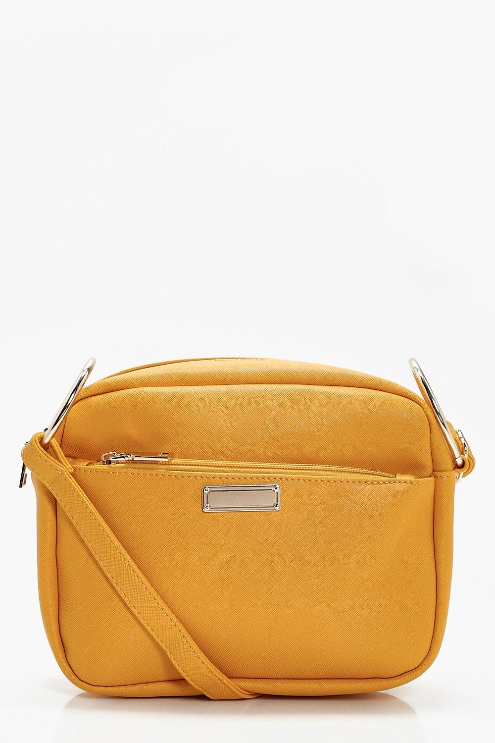 Crosshatch Camera Bag - mustard - Ava Crosshatch C