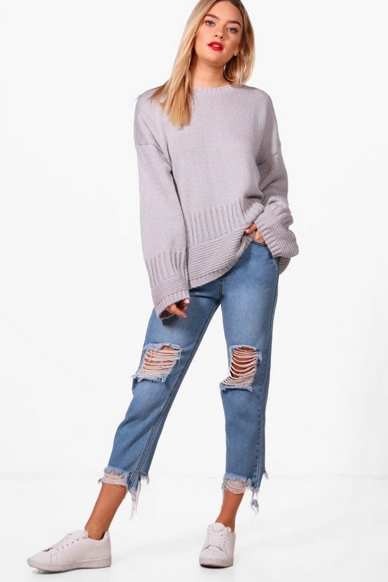 Harriet Rib Edge Wide Sleeve Jumper