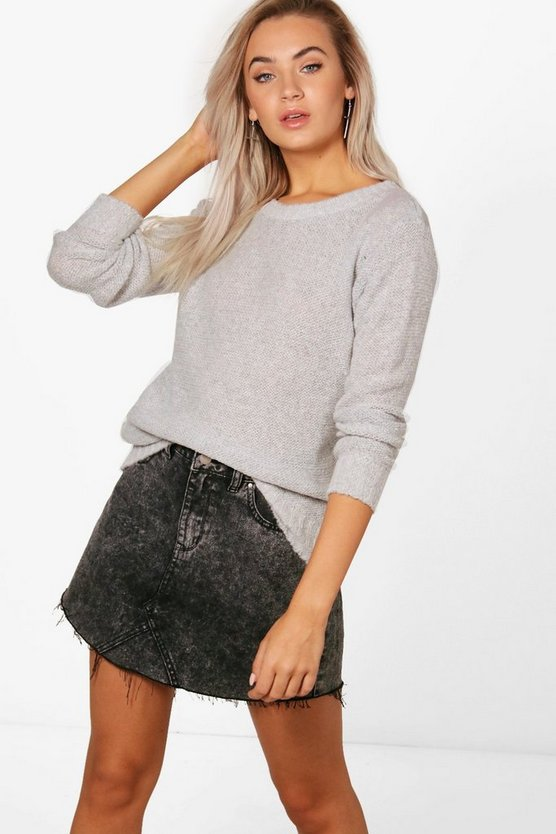 Karina Oversized Rib Cuff Soft Knit Jumper