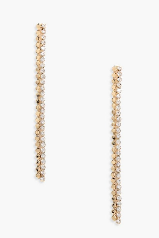 Serena Coin & Diamante Drop Earrings