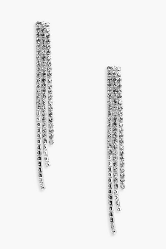 Lara Statement Diamante Drop Earrings