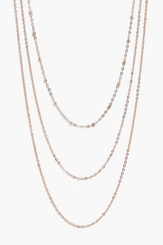 Kay Simple Chain Layered Necklace