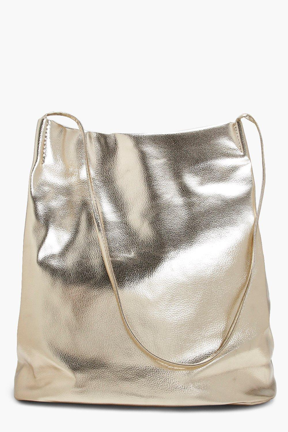 Metallic Duffle Cross Body - gold - Laura Metallic