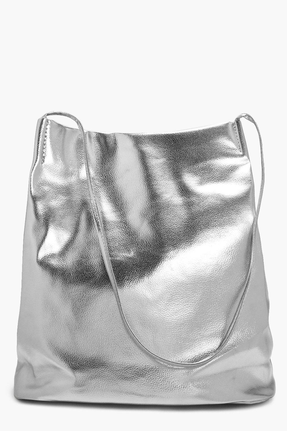 Metallic Duffle Cross Body - silver - Laura Metall