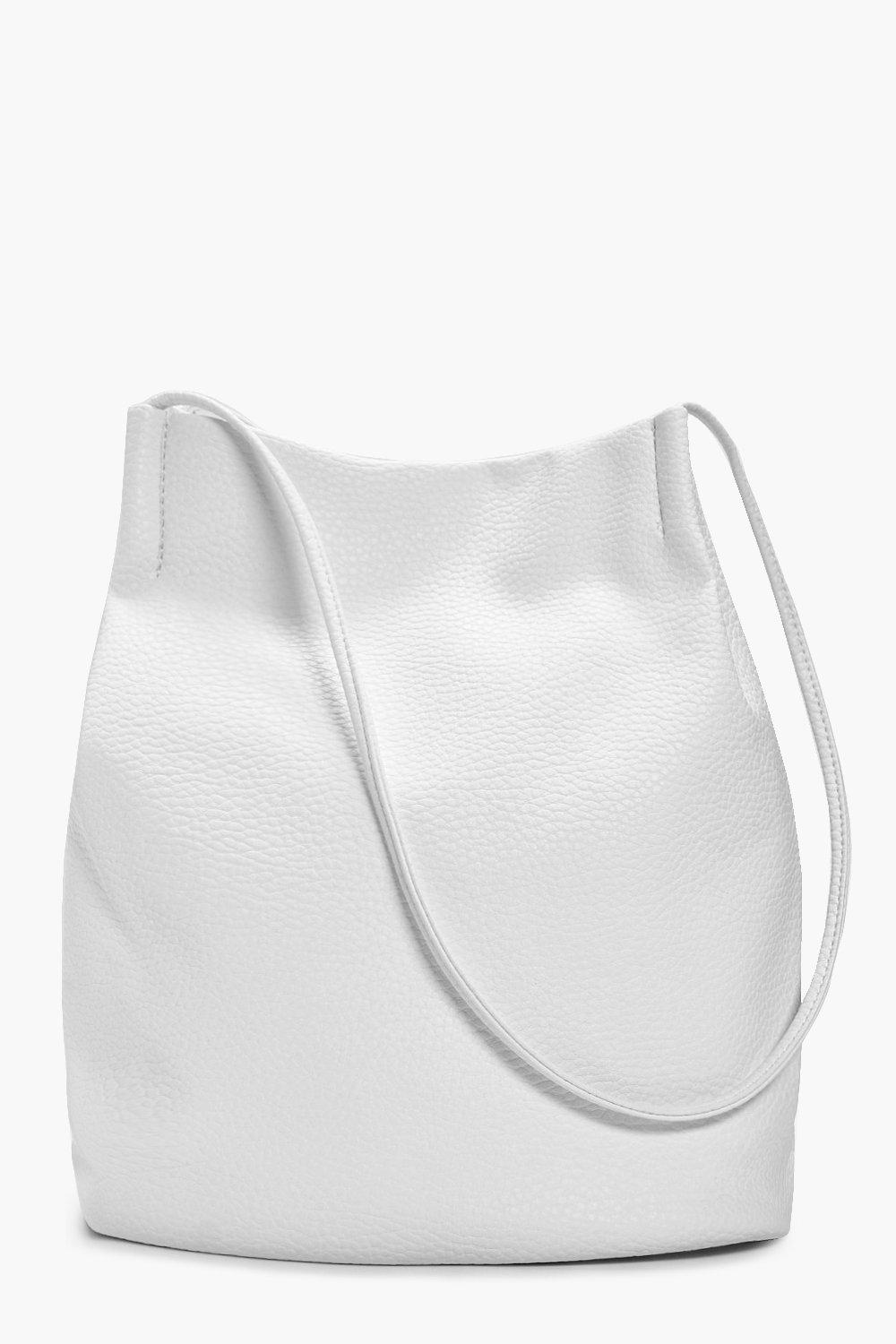 Duffle Bag Cross Body - white - Leila Duffle Bag C