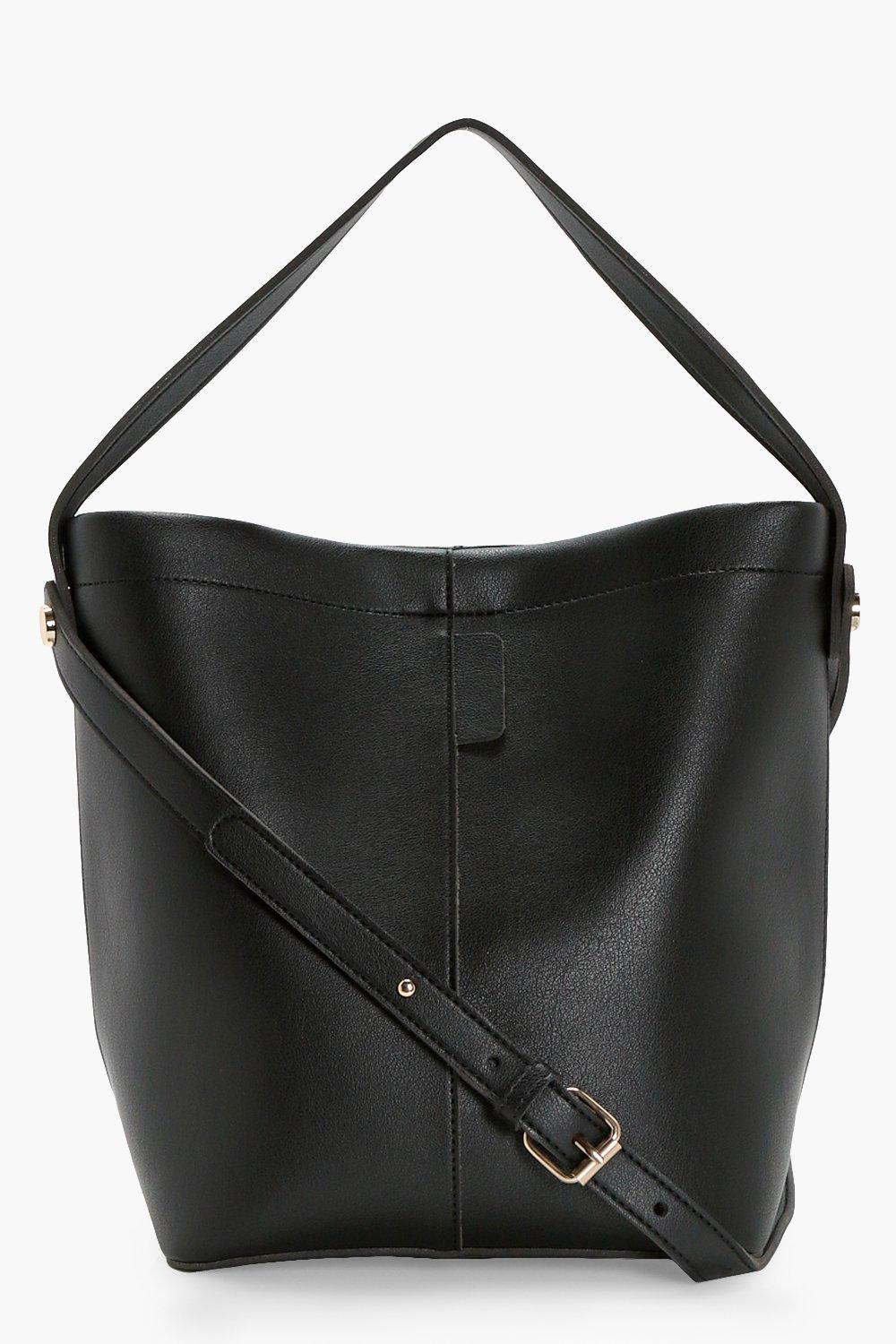 Structured Bucket Bag - black - Lottie Structured
