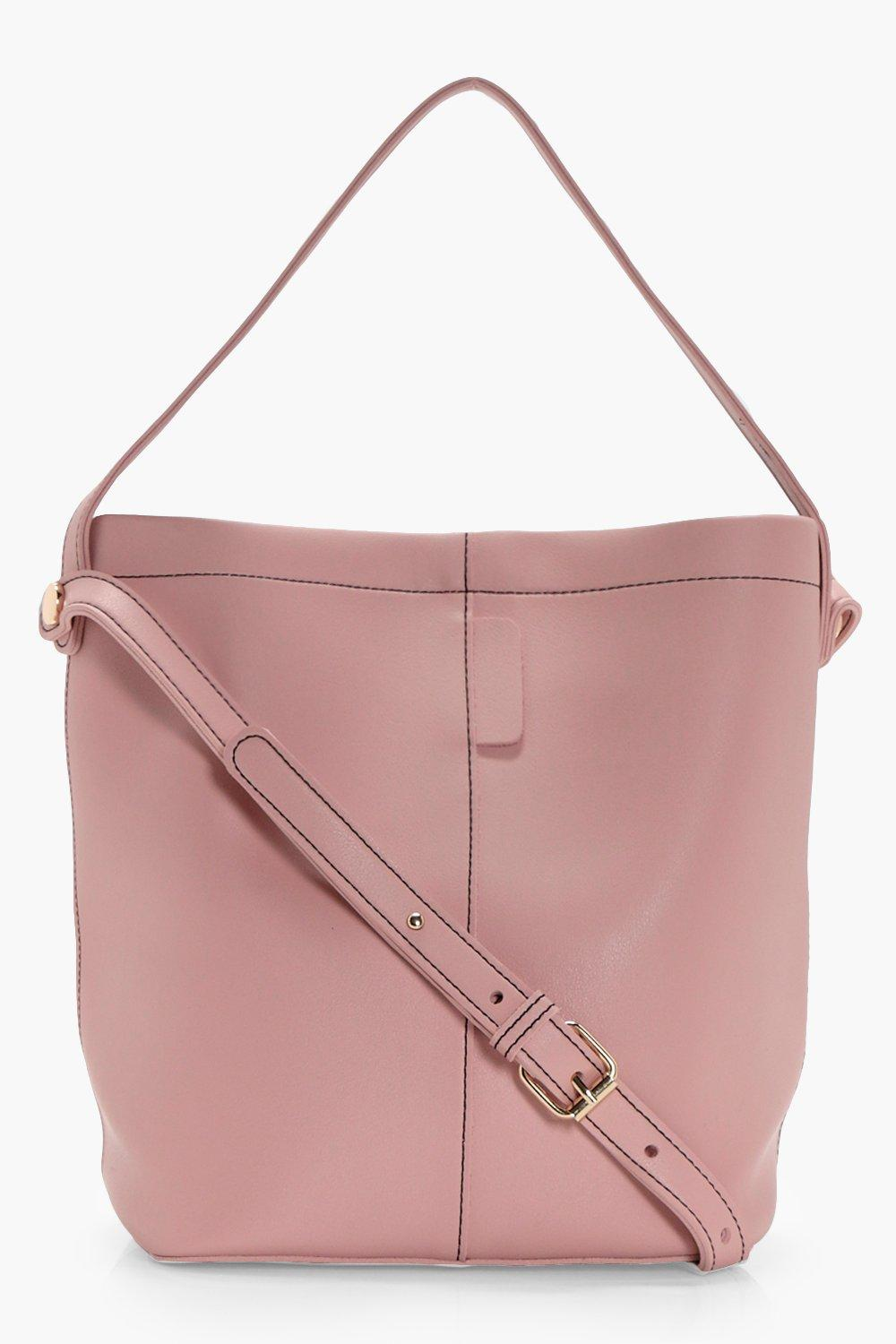 Structured Bucket Bag - nude - Lottie Structured B
