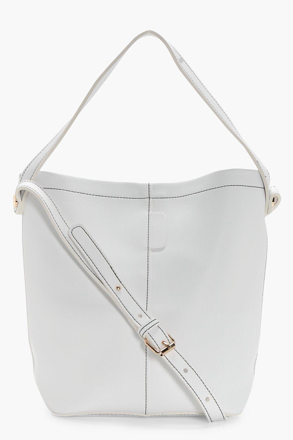 Structured Bucket Bag - white - Lottie Structured