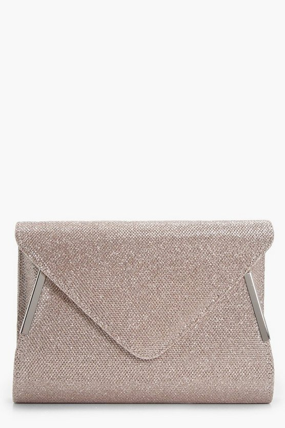 Nancy Glitter Fold Over Clutch