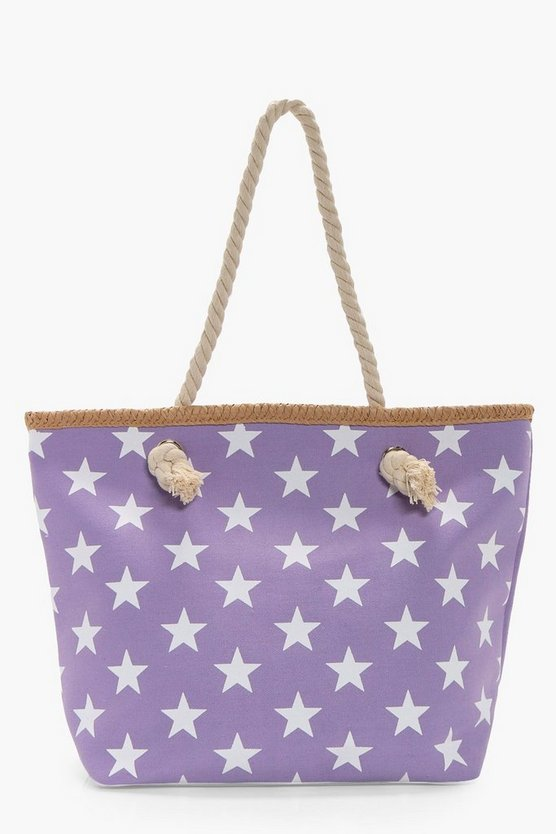 Tilly All Over Star Print Beach Bag