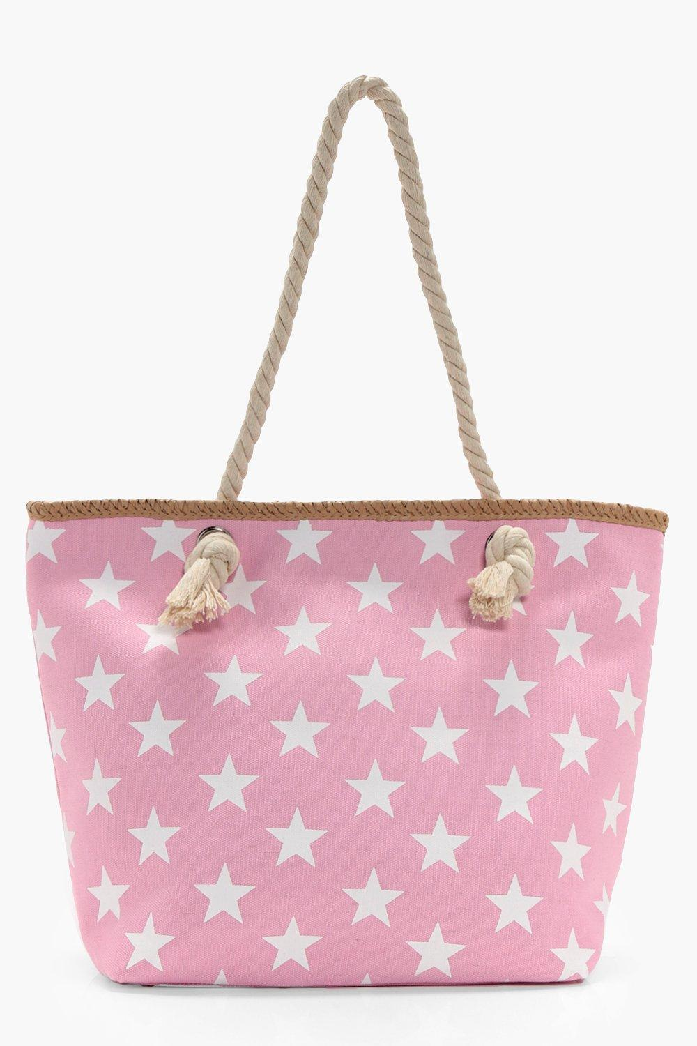 All Over Star Print Beach Bag - pink - Tilly All O