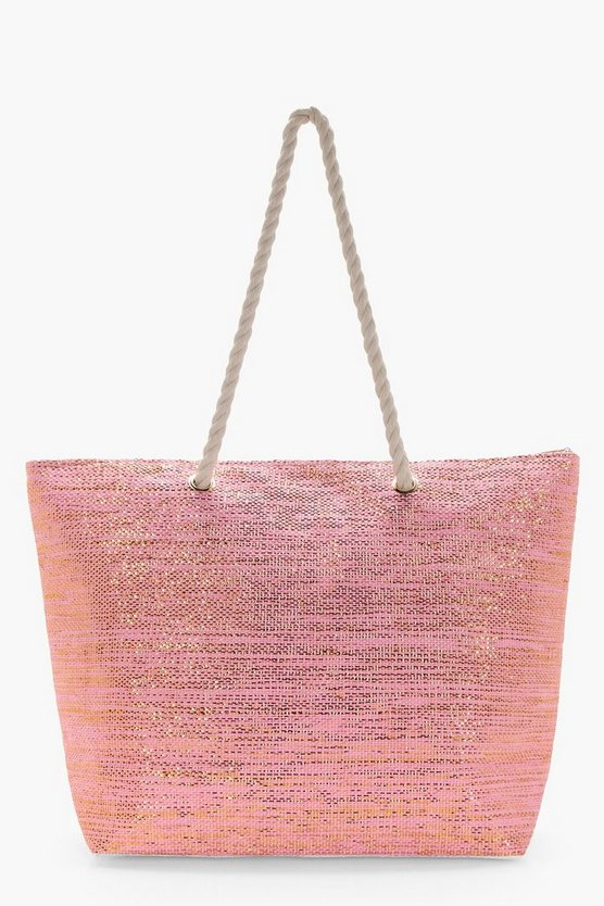 Lydia Metallic Beach Bag