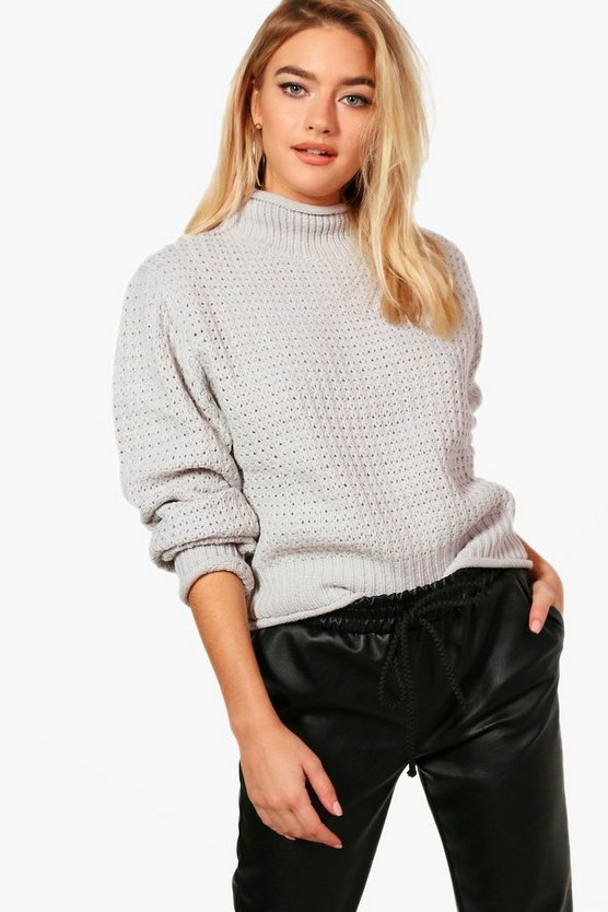 Julia Honeycomb Stitch Cropped Jumper