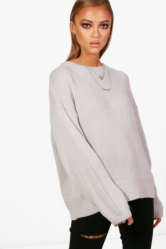 Hanna Balloon Sleeve Drop Shoulder Jumper