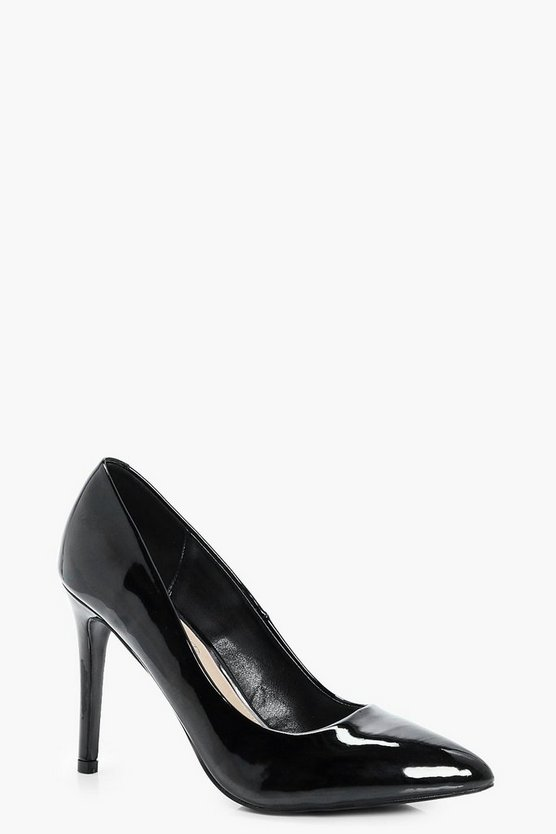 Grace Patent Pointed Toe Court Shoe