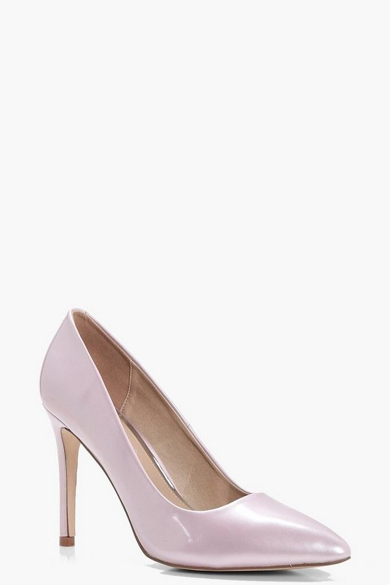 Grace Patent Pointed Toe Court Shoes