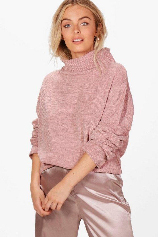 Jennie Roll Neck Chenille Jumper