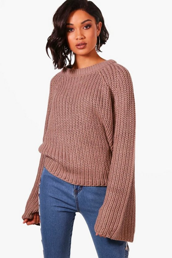 Kate Wide Sleeve High Neck Jumper