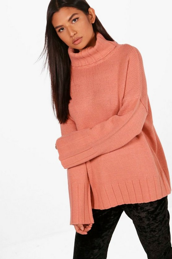 Frey Exaggerated Sleeve Roll Neck Jumper