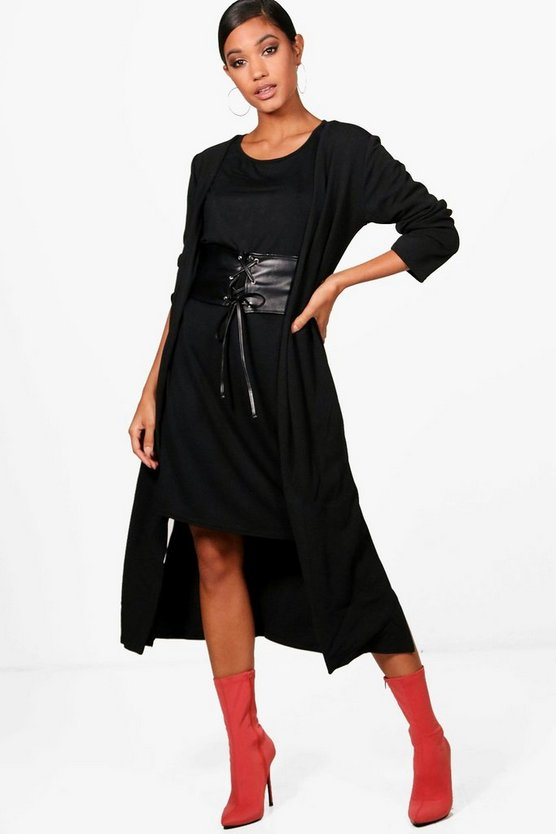 Nevea 3 PC T-Shirt Corset & Duster Co-ord